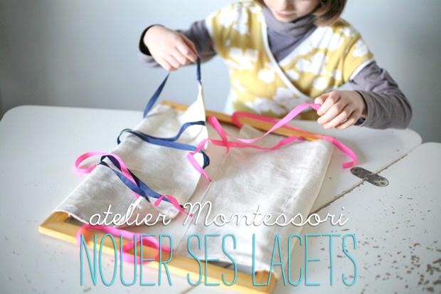montessori nouer ses lacets