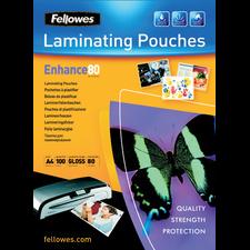 Pochettes à plastifier Fellowes A4 80