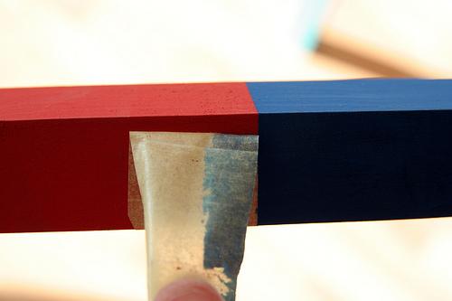 barre rouge et bleu Montessori