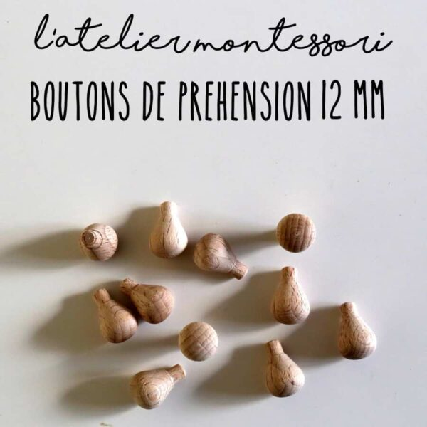 bouton prehension montessori 12 mm