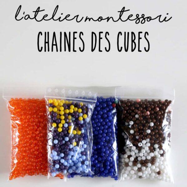 perles pour chaines des cubes montessori