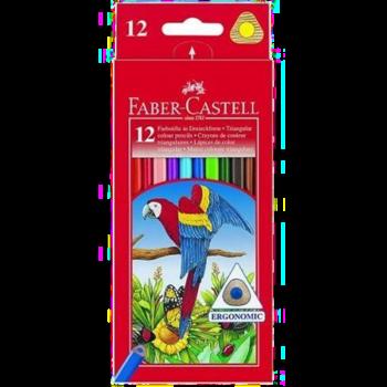 12 crayons de couleur Faber-Castell