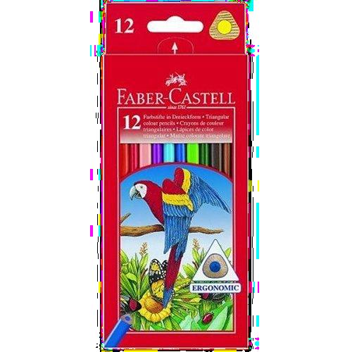 12 crayons de couleur Faber Castell