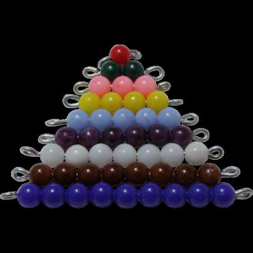 escalier perles de couleurs