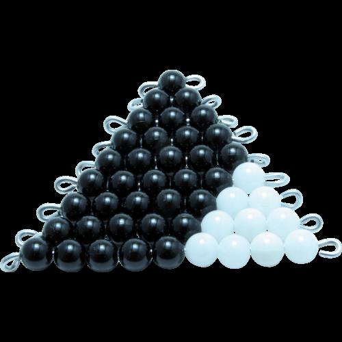 escalier noir et blanc perles de 1 a 9