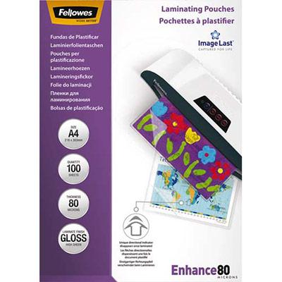 pochettes de plastification A4 fellowes 160 80