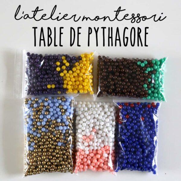 perles pour table de pythagore montessori