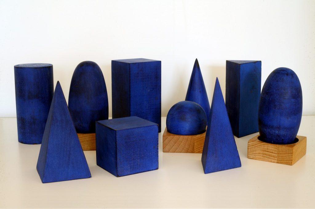 Petits volumes matériel Montessori