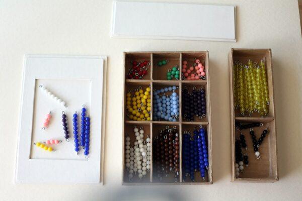 boite serpent de l'addition Montessori