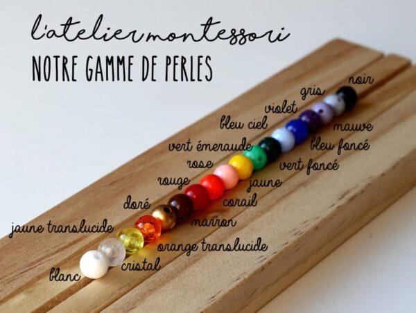 nuancier perles atelier montessori
