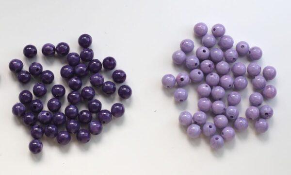 perles montessori violet mauve