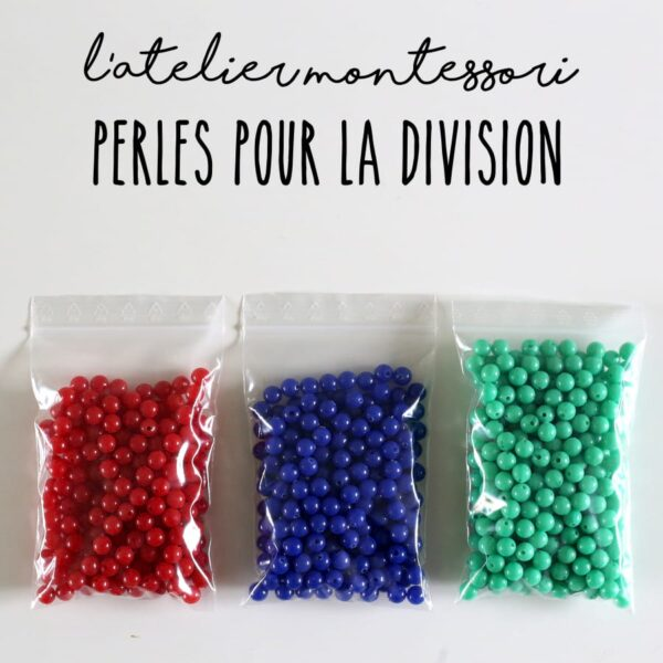perles division Montessori