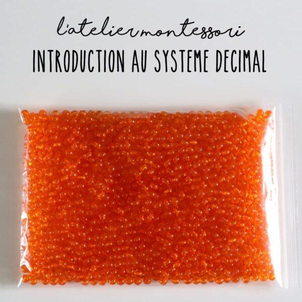 perles introduction au système décimal Montessori