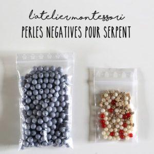 Perles négatives pour serpent