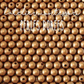 Perles Montessori dorées