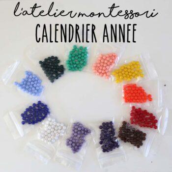 Perles pour calendrier de l'année