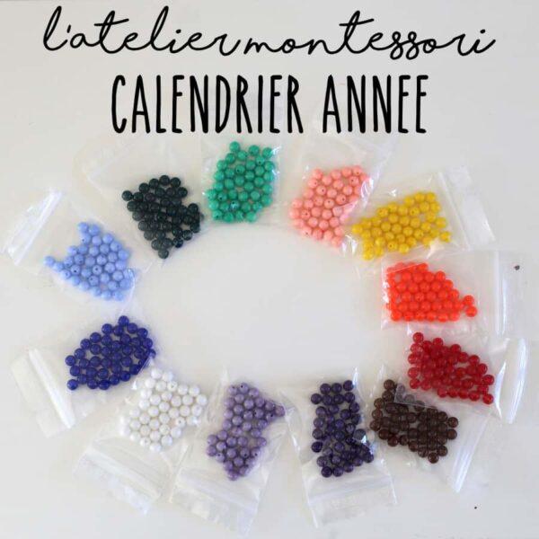 perle pour collier calendrier de l'année