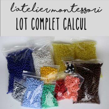 Perles Montessori lot complet